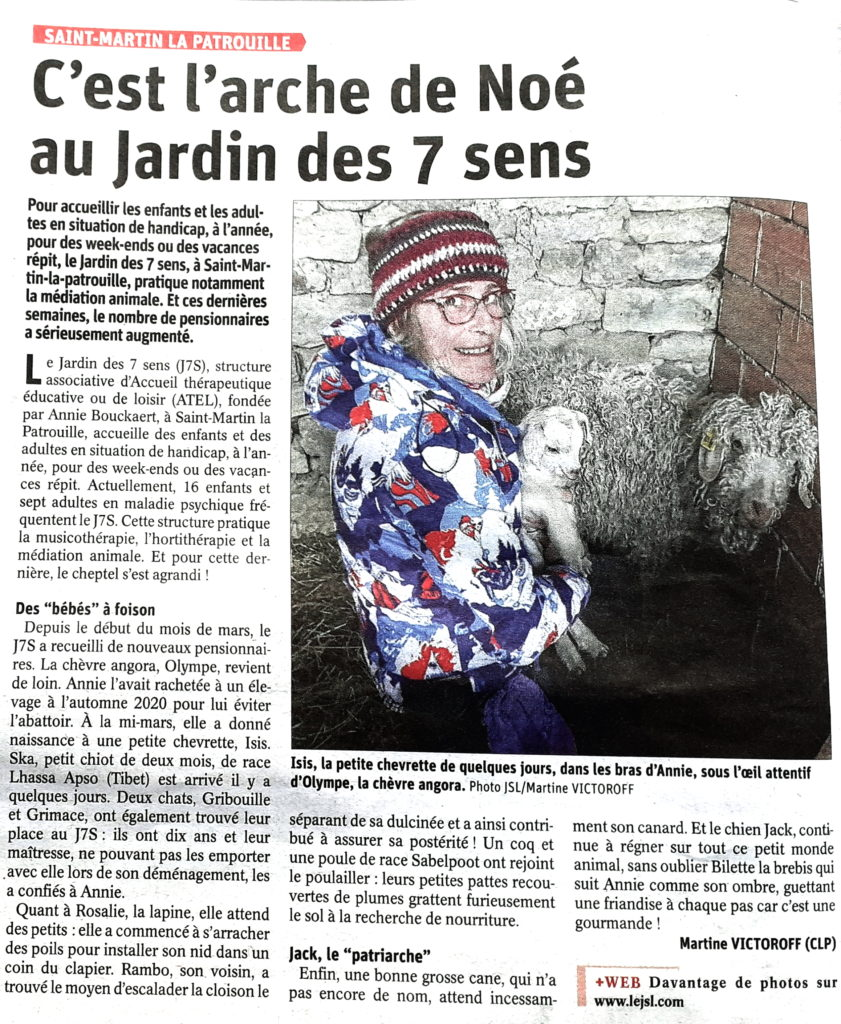 Article Journal de Saône et Loire